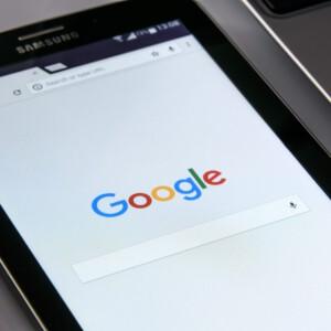 דפדפן של גוגל בתוך טאבלט